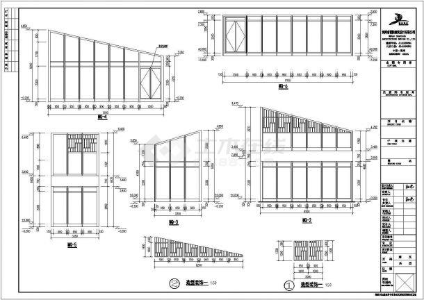 某一层框架结构商业楼建筑设计施工CAD图纸-图二