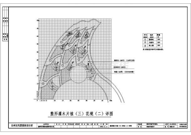 温岭市新开河绿地景观施工图cad 图纸-图二