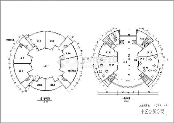 某高档综合住宅小区规划设计cad全套施工图-图一