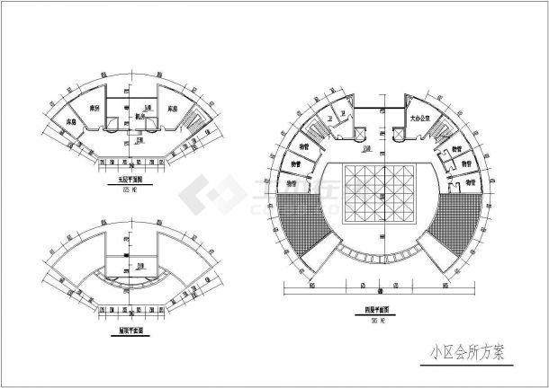 某高档综合住宅小区规划设计cad全套施工图-图二