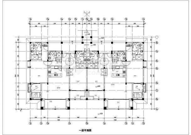 酒店式公寓建筑设计方案图纸-图一
