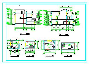 中西独院两层别墅建筑设计施工图-图二