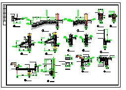 某地三层农村别墅建筑设计CAD图-图一