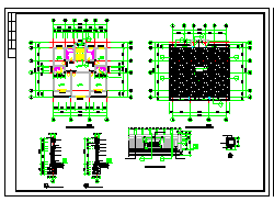 某地三层农村别墅建筑设计CAD图-图二