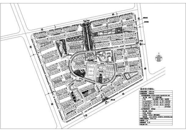 192914平米小区规划设计图-图一