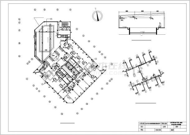 北京市某3万平米15层框架结构大酒店全套暖通空调系统设计CAD图纸-图一