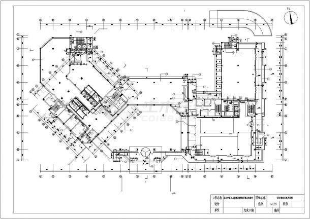 北京市某3万平米15层框架结构大酒店全套暖通空调系统设计CAD图纸-图二