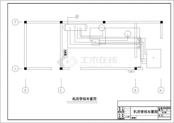 广州某大型冷饮制造厂200吨低温冷藏库制冷系统设计CAD图纸-图二