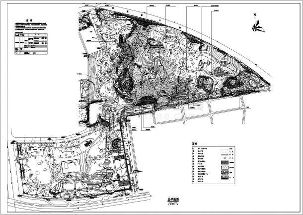 园博园详细规划设计cad总平面施工图(含主要技术经济指标)-图一