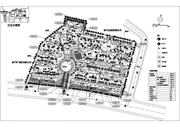某大型高档多层住宅小区详细规划设计cad总平面施工图(含经济技术指标)-图二