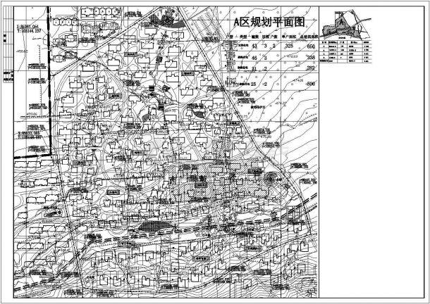 某大型综合服务区控制性详细规划设计cad总平面方案图纸-图二