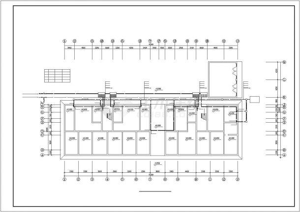 某6层电梯住宅楼内生活给水排水详细方案设计施工CAD图纸-图一