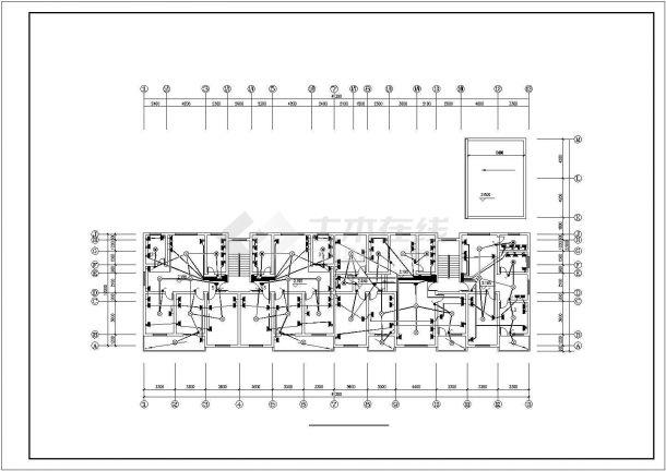 某6层电梯住宅楼内生活给水排水详细方案设计施工CAD图纸-图二