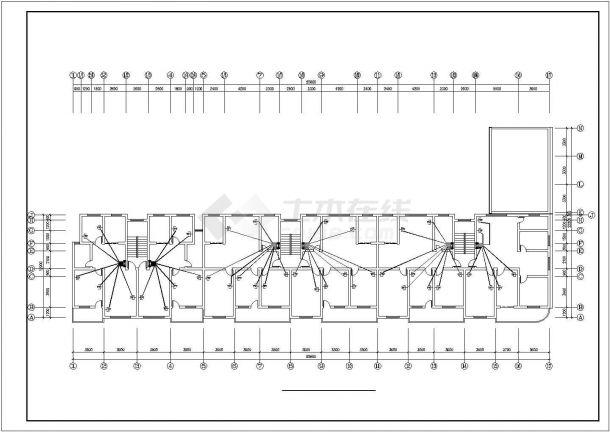 某六层住宅楼内生活给水排水详细方案设计施工CAD图纸-图一