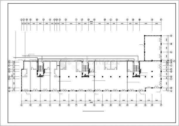 某六层住宅楼内生活给水排水详细方案设计施工CAD图纸-图二