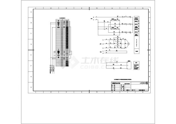 某220kV变电站全套电气原理图纸cad-图二