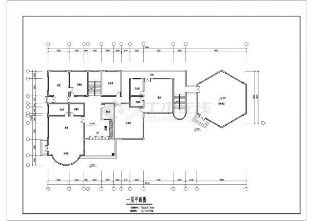 6班3层1685.5平米幼儿园建筑方案cad设计图纸-图一