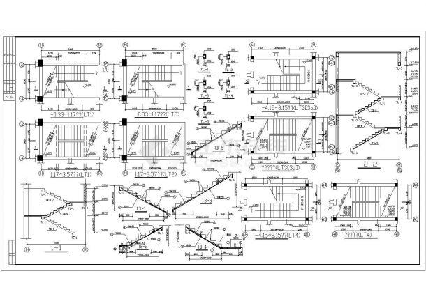六层办公楼底框结构施工CAD图-图一