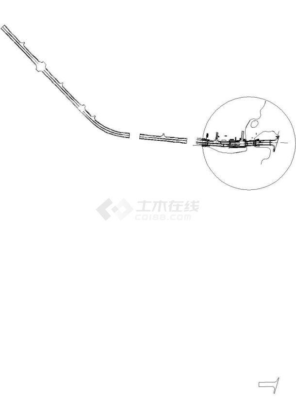 [广西]某地桥梁工程给水排水管线布置施工cad图(雨水部分)-图二