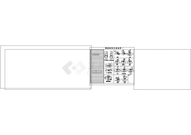 完整钢管桁架施工详图、节点图cad-图一