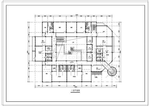 9班:3层幼儿园+社区服务中心建筑方案cad设计图-图一