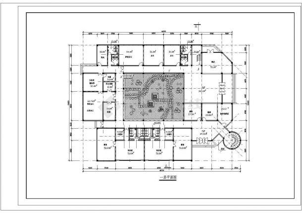 9班:3层幼儿园+社区服务中心建筑方案cad设计图-图二