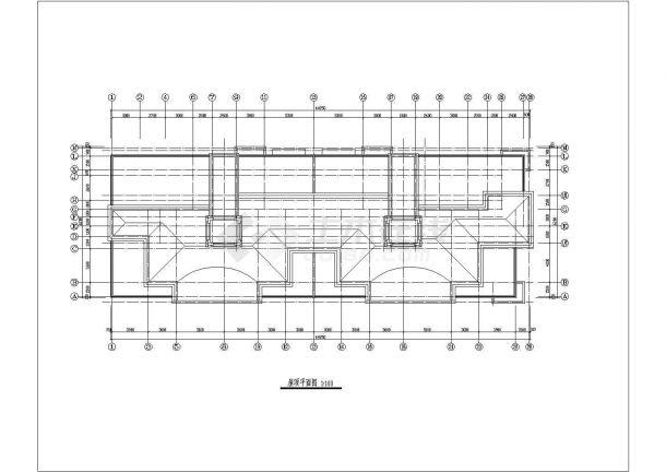 3023平米对称户型住宅建筑设计施工图-图二