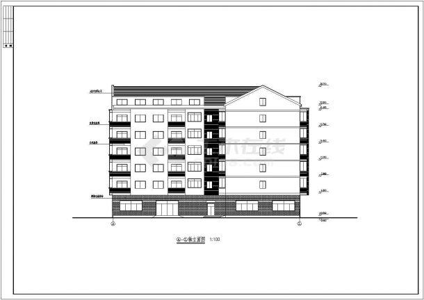 多层教师宿舍全套建筑设计施工图-图一