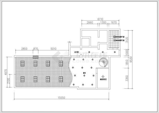 江西省沙坪坝网通营业厅整体装修设计CAD图纸-图一