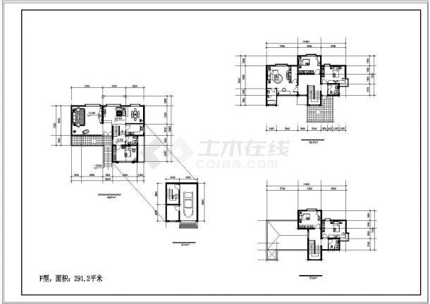 单家独院式别墅建筑设计施工图-图一