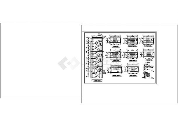 办公楼设计_多层办公楼楼梯cad图纸设计-图一