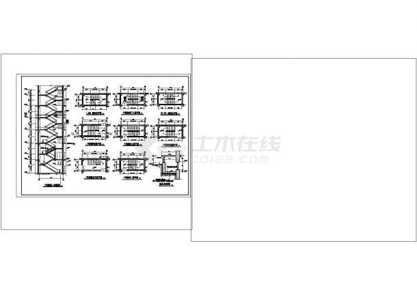 办公楼设计_多层办公楼楼梯cad图纸设计-图二