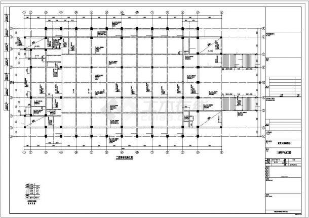 某中学四层风雨操场结构设计施工CAD图纸-图一