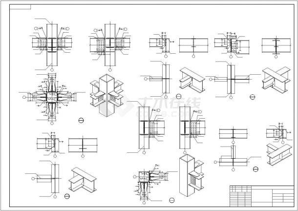 两层型钢混凝土食堂结构施工图设计-图一