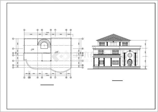 某地区多套欧式独栋别墅方案设计施工CAD图纸(含图纸说明)-图一