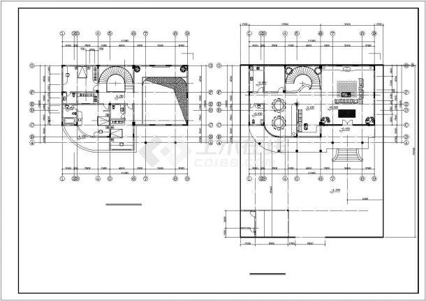 某地区多套欧式独栋别墅方案设计施工CAD图纸(含图纸说明)-图二