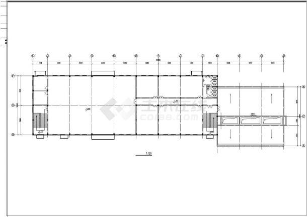食堂浴室建筑设计方案图-图一