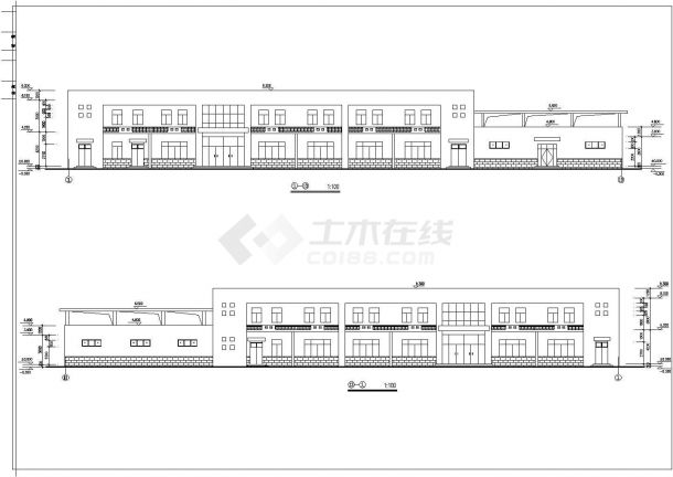 食堂浴室建筑设计方案图-图二