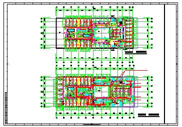 [上海]设计中心办公大厦空调通风及防排烟系统设计施工图纸(大院出品人防设计)-图一