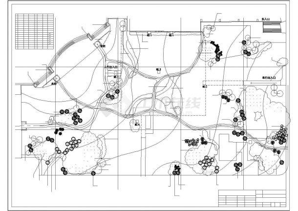 黄石市人民广场全套园林景观施工图-图一