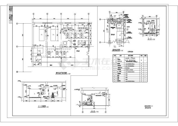 某制冷机房设计cad大样图(含新风机房设计)-图二