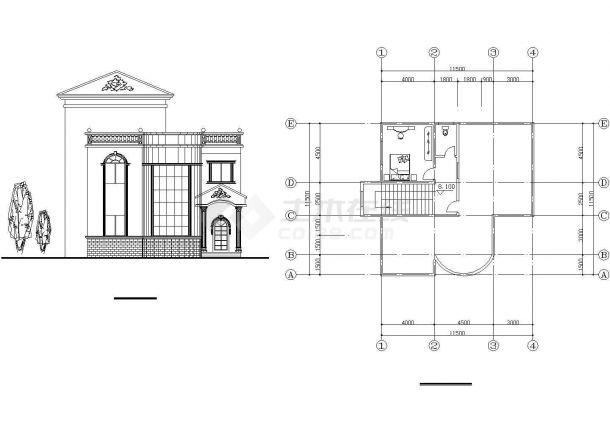 经典的2层砖混结构乡村单体别墅建筑设计CAD图纸(12套方案)-图二
