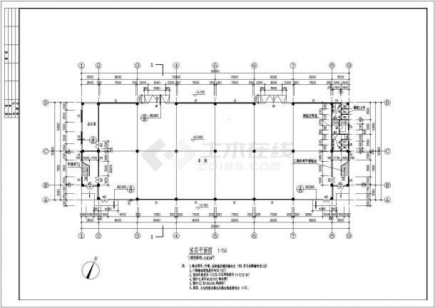 二层普通厂房建筑施工图-图二