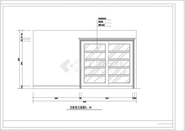 【武汉】某地豪华别墅精装修全套施工设计cad图纸(含楼梯下公卫平面图,图例说明)-图一