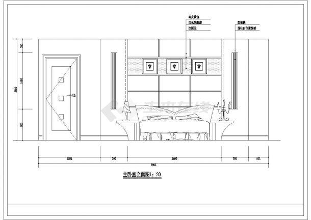 【武汉】某地豪华别墅精装修全套施工设计cad图纸(含楼梯下公卫平面图,图例说明)-图二