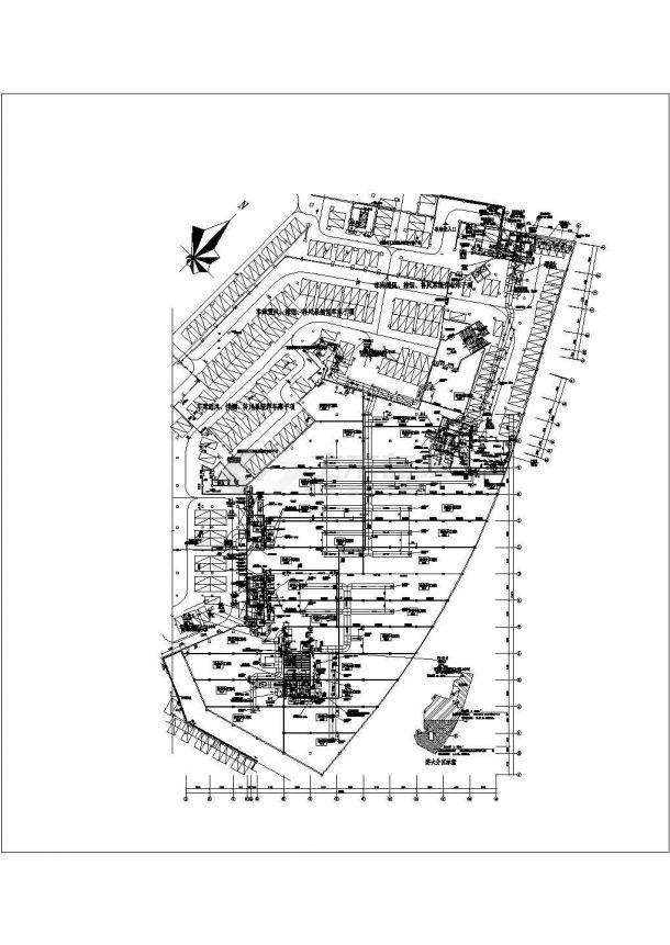 某地下商场通风空调及防排烟系统设计cad全套施工图(含设计说明,含负荷计算)-图二
