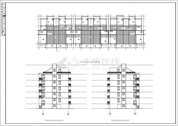 【无锡】某花园小区一多层住宅楼全套建筑设计施工图-图一