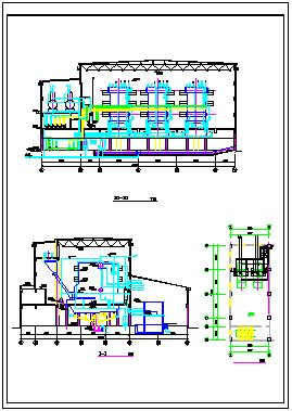 蒸气锅炉详细施工cad设计图纸-图二