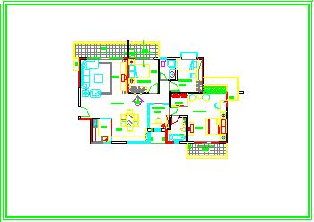 整套家装类室内cad施工设计图纸-图一