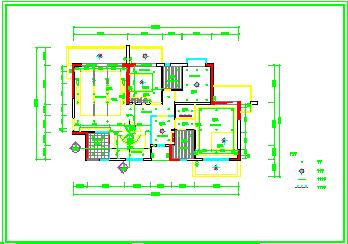 整套家装类室内cad施工设计图纸-图二